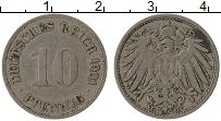 Изображение Монеты Германия 10 пфеннигов 1901 Медно-никель VF G