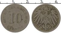 Изображение Монеты Германия 10 пфеннигов 1901 Медно-никель VF J