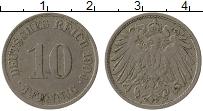 Изображение Монеты Германия 10 пфеннигов 1904 Медно-никель XF J