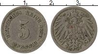 Изображение Монеты Германия 5 пфеннигов 1890 Медно-никель VF Е