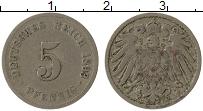 Изображение Монеты Германия 5 пфеннигов 1893 Медно-никель VF G