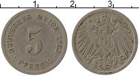 Изображение Монеты Германия 5 пфеннигов 1893 Медно-никель VF