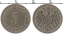Изображение Монеты Германия 5 пфеннигов 1895 Медно-никель VF