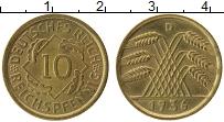 Продать Монеты Веймарская республика 10 пфеннигов 1936