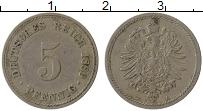 Изображение Монеты Германия 5 пфеннигов 1889 Медно-никель VF A