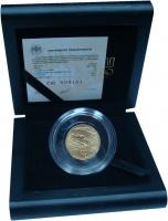 Изображение Подарочные монеты Россия 50 рублей 2014 Золото Proof