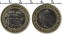 Изображение Монеты Остров Мэн 2 фунта 1998 Биметалл UNC-