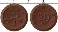 Изображение Монеты Германия : Нотгельды 20 пфеннигов 1921 Фарфор UNC