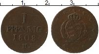 Изображение Монеты Саксония 1 пфенниг 1808 Медь VF