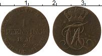 Продать Монеты Анхальт-Бембург 1 пфенниг 1827 Медь