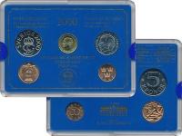 Изображение Подарочные монеты Швеция Набор 2000 года 2000  UNC