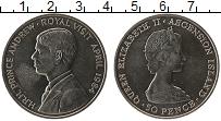 Изображение Монеты Остров Вознесения 50 пенсов 1984 Медно-никель UNC- Елизавета II. Принц