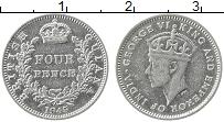Изображение Монеты Великобритания Британская Гвиана 4 пенса 1945 Серебро XF
