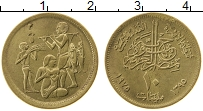 Изображение Монеты Египет 10 миллим 1975 Латунь UNC-