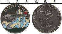 Изображение Монеты Конго 100 франков 1995 Медно-никель UNC Цветная эмаль.Юнкерс