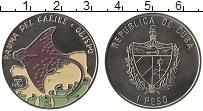 Изображение Монеты Куба 1 песо 1994 Медно-никель UNC Цветная эмаль.Скат