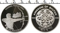 Изображение Монеты Бутан 300 нгултрум 1992 Серебро Proof Олимпийские игры.Стр