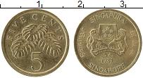 Изображение Монеты Сингапур 5 центов 1989 Латунь UNC-