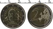 Изображение Мелочь Италия 2 евро 2014 Биметалл UNC Галилео Галилей. Кар