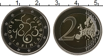 Изображение Монеты Финляндия 2 евро 2013 Биметалл Proof 150 лет Финского пар