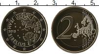 Изображение Монеты Финляндия 2 евро 2015 Биметалл Proof 150 лет со дня рожде