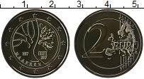 Изображение Монеты Эстония 2 евро 2017 Биметалл UNC