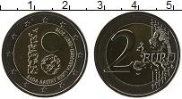 Изображение Монеты Эстония 2 евро 2018 Биметалл UNC