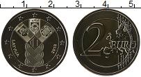 Изображение Мелочь Латвия 2 евро 2018 Биметалл UNC 100 лет Независимост