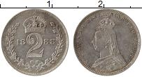 Изображение Монеты Великобритания 2 пенса 1888 Серебро Prooflike Виктория