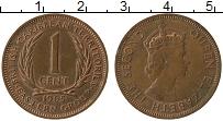 Изображение Монеты Карибы 1 цент 1965 Бронза XF+ Елизавета II