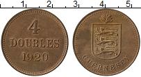 Изображение Монеты Гернси 4 дубля 1920 Бронза UNC- Н