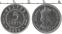 Продать Монеты Белиз 5 центов 2006 Алюминий