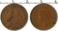 Изображение Монеты ЮАР 1/4 пенни 1950 Бронза XF