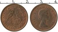 Изображение Монеты ЮАР 1/4 пенни 1959 Бронза XF+ Елизавета II.