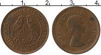 Изображение Монеты ЮАР 1/4 пенни 1955 Бронза XF+