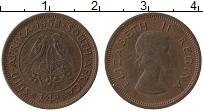 Изображение Монеты ЮАР 1/4 пенни 1958 Бронза XF+ Елизавета II.