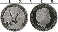 Изображение Монеты Гибралтар 20 фунтов 2016 Серебро Proof Битва на море