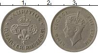Изображение Монеты Маврикий 1/4 рупии 1951 Медно-никель XF Георг VI