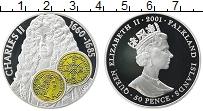 Изображение Монеты Фолклендские острова 50 пенсов 2001 Серебро Proof
