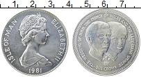 Изображение Монеты Остров Мэн 1 крона 1981 Серебро UNC Елизавета II. Свадьб