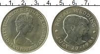 Изображение Монеты Остров Джерси 2 фунта 1981 Медно-никель UNC-