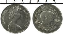 Изображение Монеты Бермудские острова 1 доллар 1981 Медно-никель UNC-