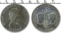 Изображение Монеты Остров Святой Елены 25 пенсов 1981 Медно-никель UNC-