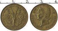Изображение Монеты Французская Западная Африка 5 франков 1956 Латунь XF