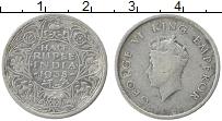 Изображение Монеты Индия 1/2 рупии 1938 Серебро VF Георг VI