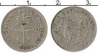 Изображение Монеты Великобритания Британская Гвиана 1/16 доллара 1822 Серебро XF