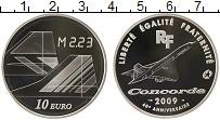 Изображение Монеты Франция 10 евро 2009 Серебро Proof 40 лет Конкорду