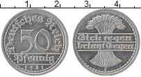 Изображение Монеты Веймарская республика 50 пфеннигов 1921 Алюминий UNC-