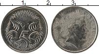 Изображение Монеты Австралия 5 центов 2007 Медно-никель UNC Елизавета II.