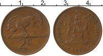 Изображение Монеты ЮАР 2 цента 1970 Бронза XF